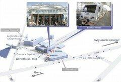 Схема расположения Аэроэкспресса на Киевском вокзале. Фото vnukovo.ru