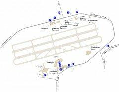 Схема расположения парковок. Фото svo.aero